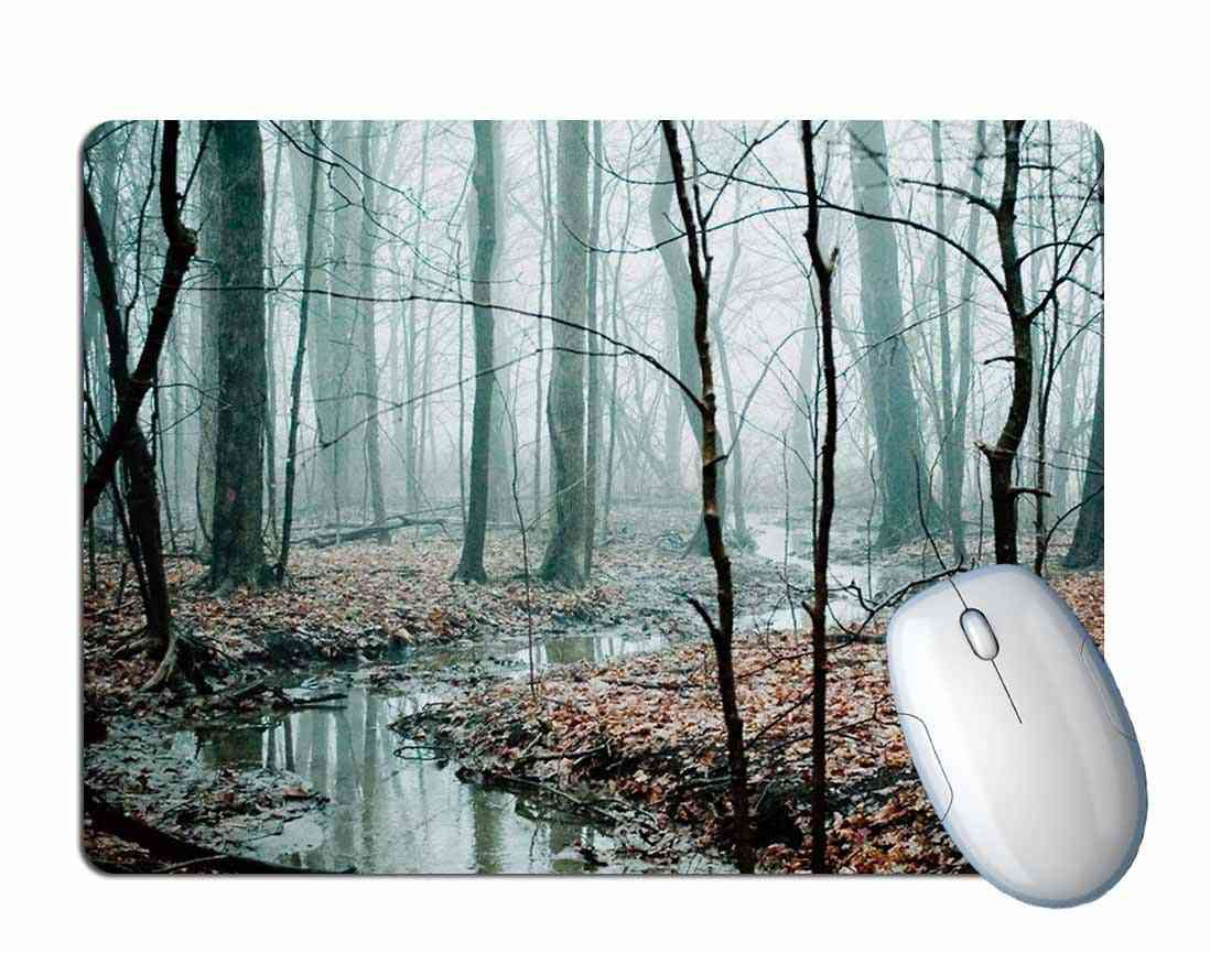 Forest Lake Scenery Mouse Pad