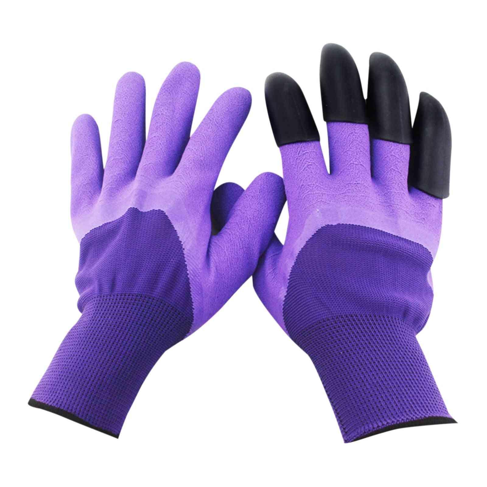 Plastic Garden Rubber Gloves