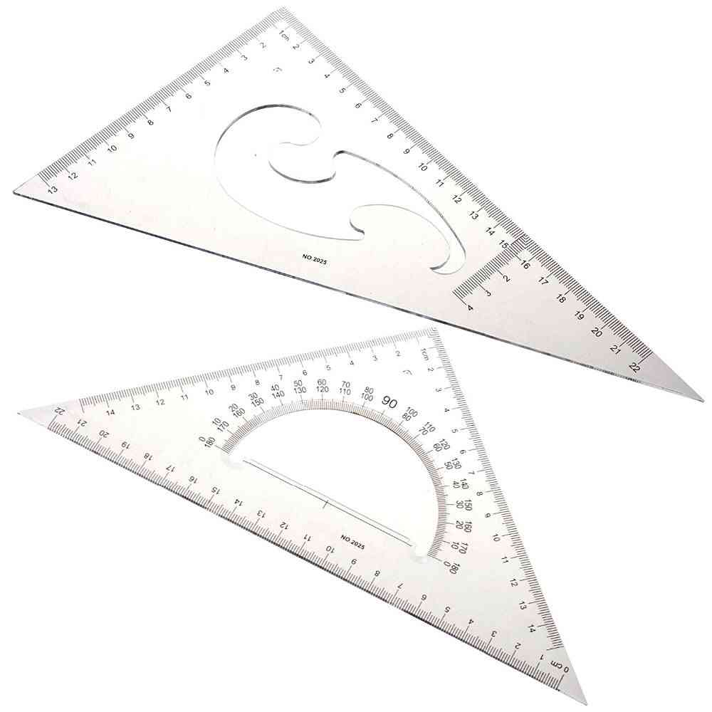 Triangle Protractor Ruler Drawing Tool