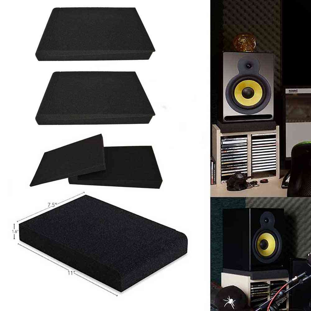 Monitor Isolation Pads, Pair Of Two High Density Acoustic Foam Which Fits Most Speaker Stands