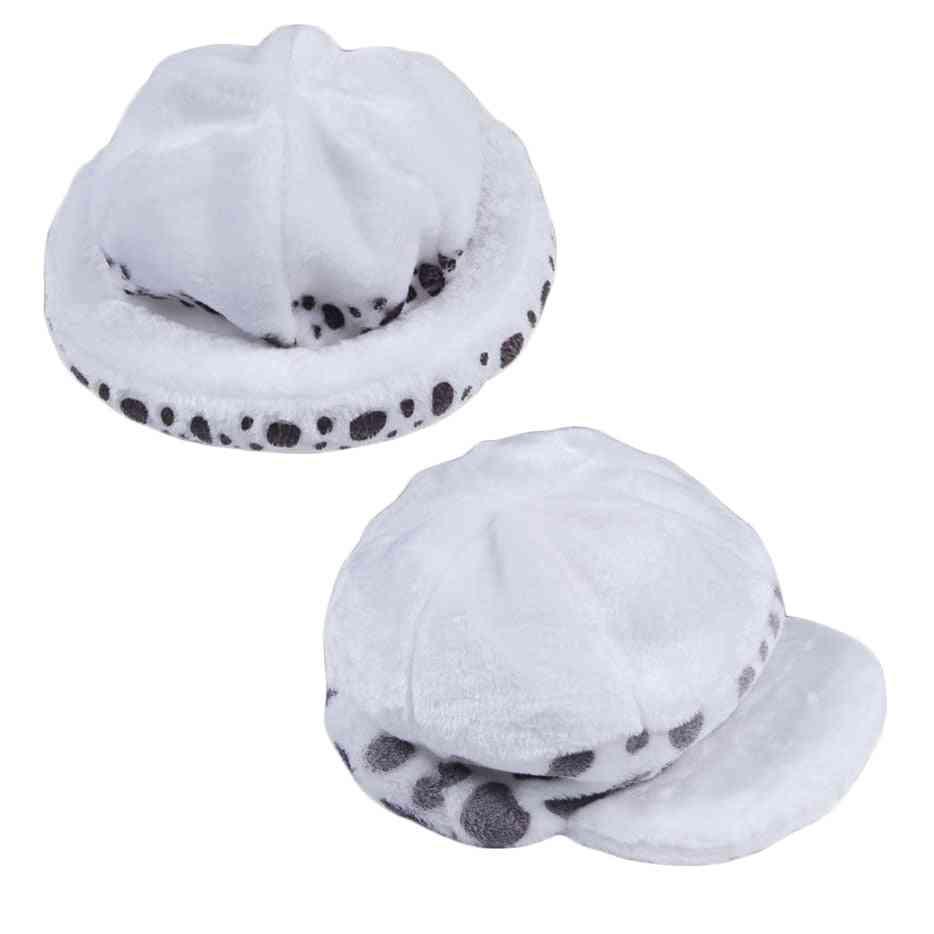 Cosplay Costumes White Spot Plush Casual Cap