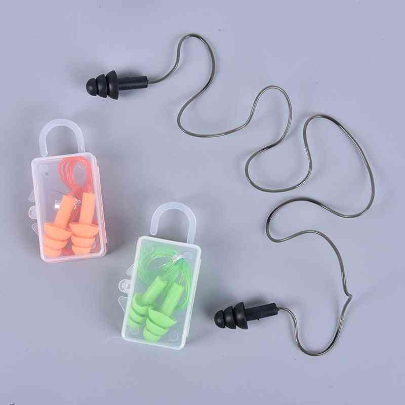 Anti-noise Earplugs Nose Clip Case Protective Waterproof Protection Ear Plug