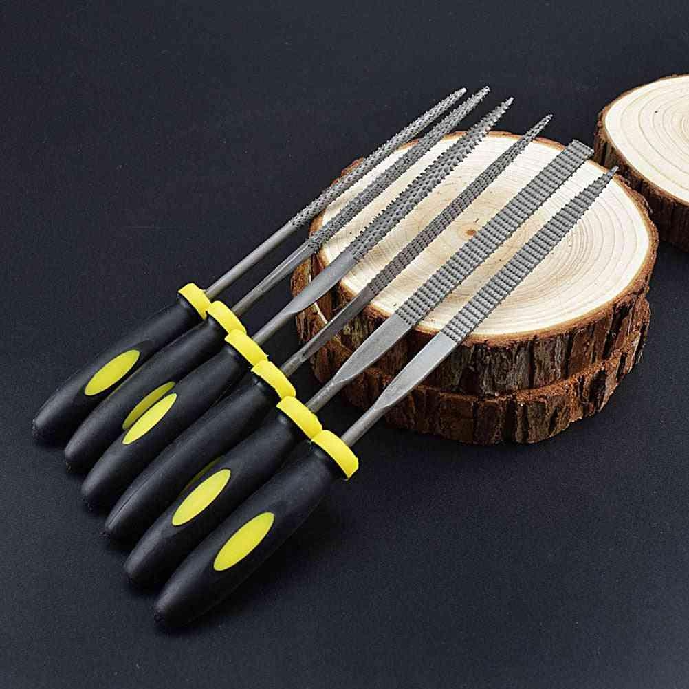 Mini Metal Rasp Needle Files Set Wood Carving Tools