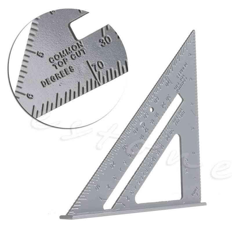 Speed Square Protractor Aluminum Alloy Miter Framing Measurement