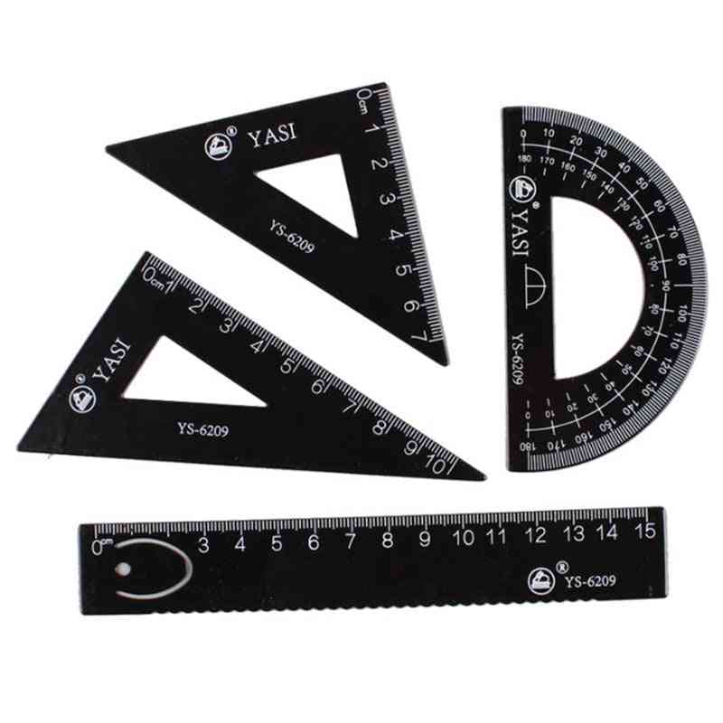 School Supplies Set Square Triangle Ruler