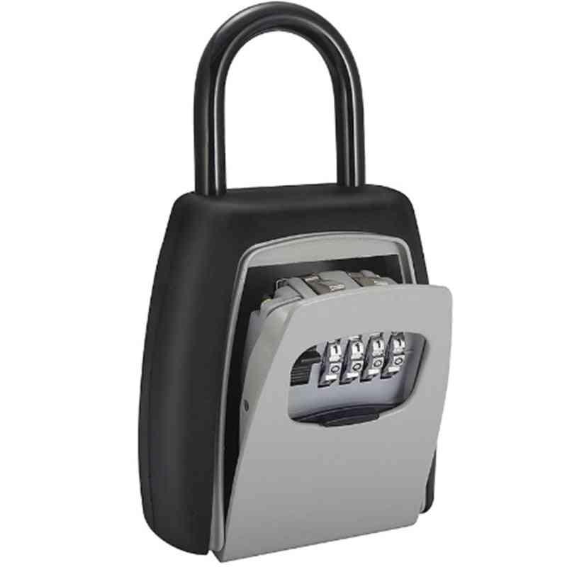 Password Key Box Grey Four-digit Password Lock Padlock