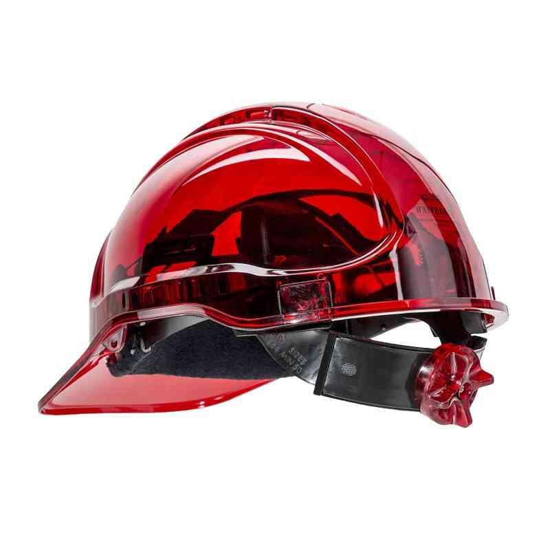 Peak View Vented Ratchet Work Hard Hat& Safety Helmet / Work Cap