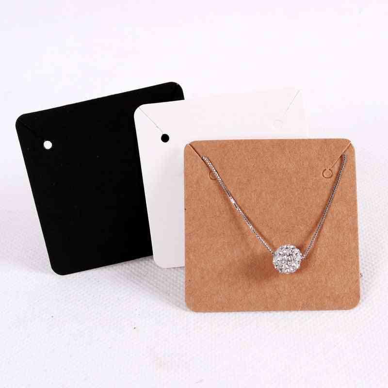 Necklace Display Card Holder Cardboard
