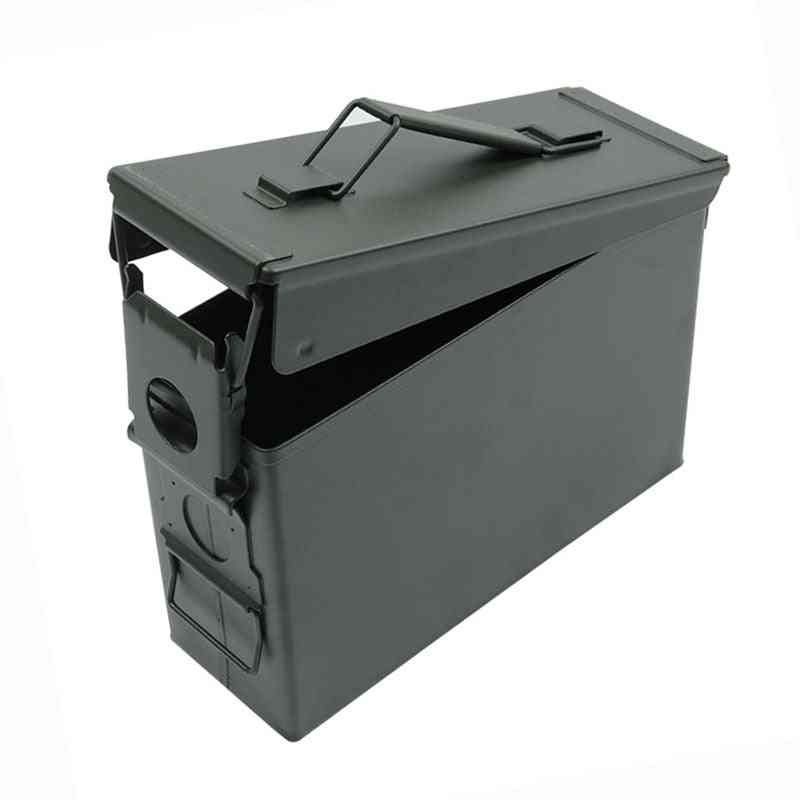30 Cal Metal Ammo Case Can Military And Army Solid Steel Waterproof Holder Box