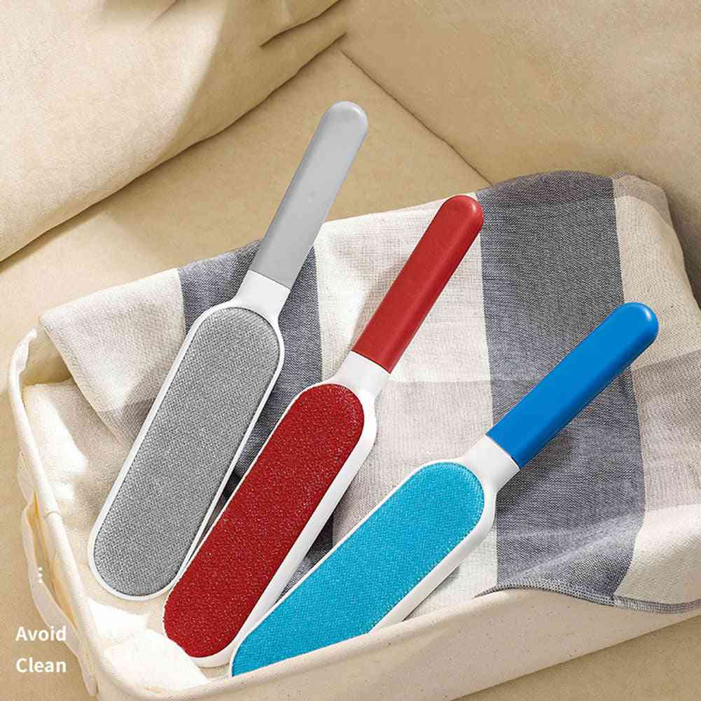 Manual Lint Remover Brush Two-side Anti-static Clothes Sheet Dust Cleaning Tools