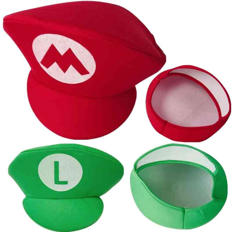 Adult Kids Game Super Luigi Bors Cosplay Hats