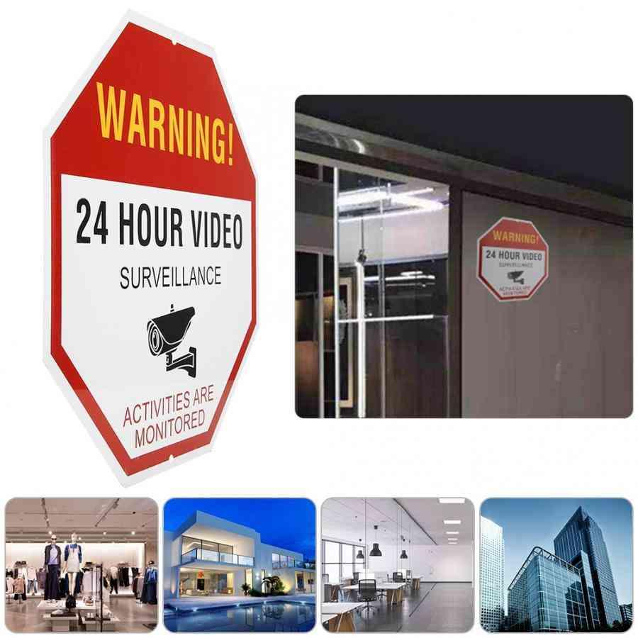 Video Surveillance Warning 24 Hour Video Surveillance Security Avoid Intruders