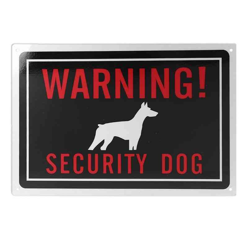 1pc Univeral Indoor Outdoor Use Aluminum Warning Security Dog Sign