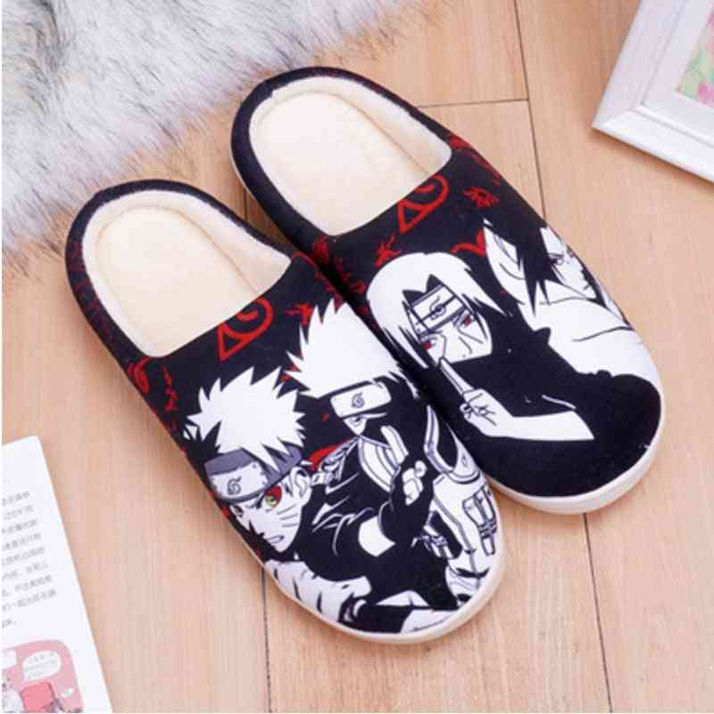 Anime Slippers Cosplay Costumes Unisex Winter Warm Cotton Shoes