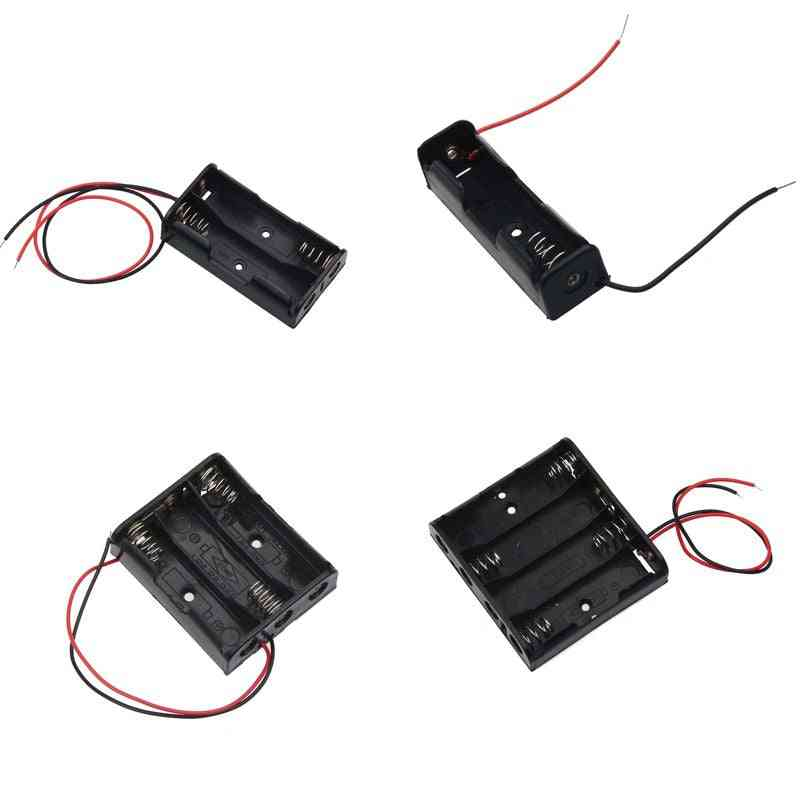 Power Battery Storage Case, Box Holder With Wire Leads.