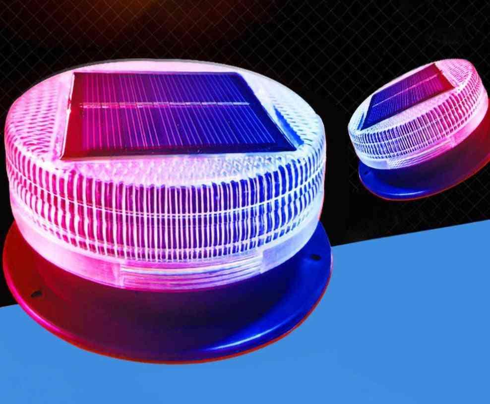 Solar Warning Light Red Blue Alternating Sensitive Strobe Flash