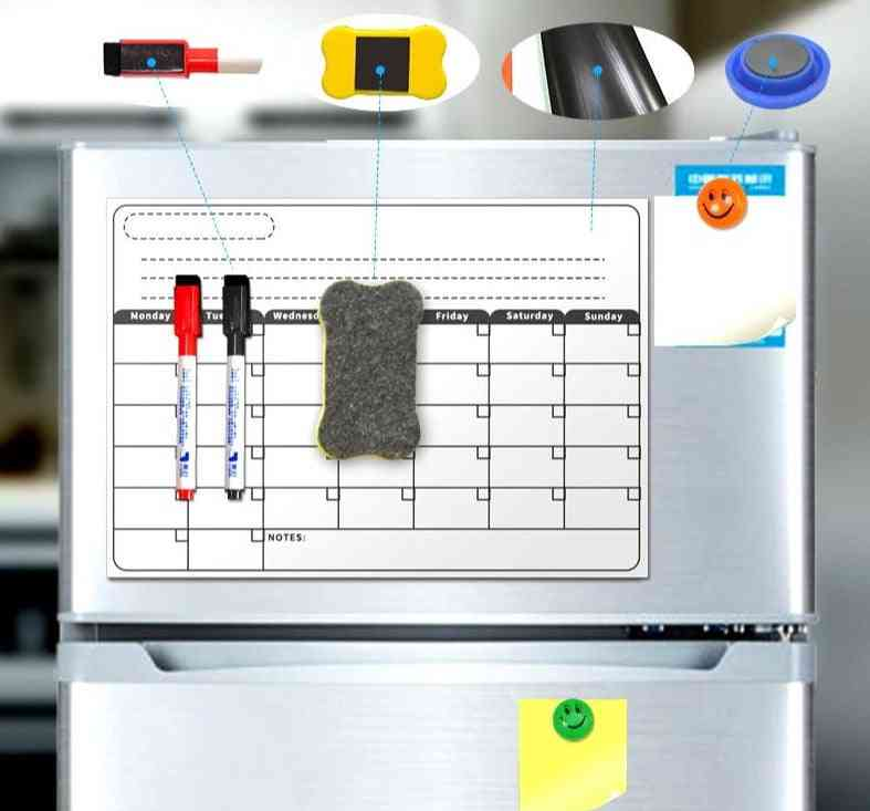 Magnetic Board A3 Monthly Calendar