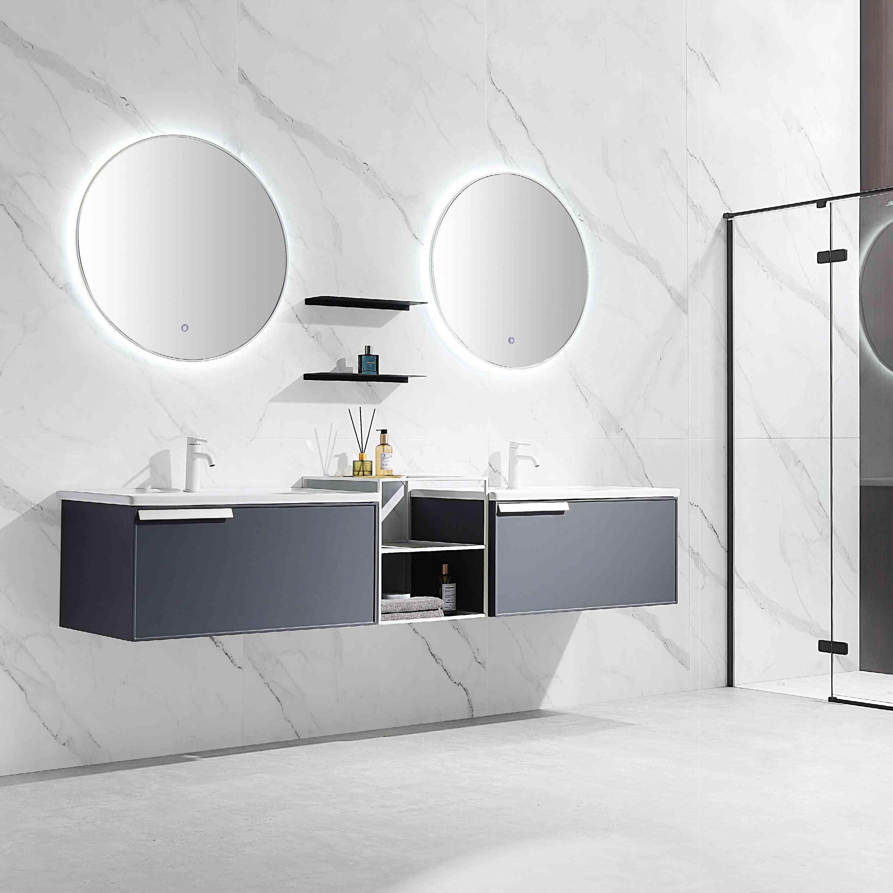 Light Luxury Rock Board Bathroom Cabinet Combination Modern Simple Toilet Washroom Accessories
