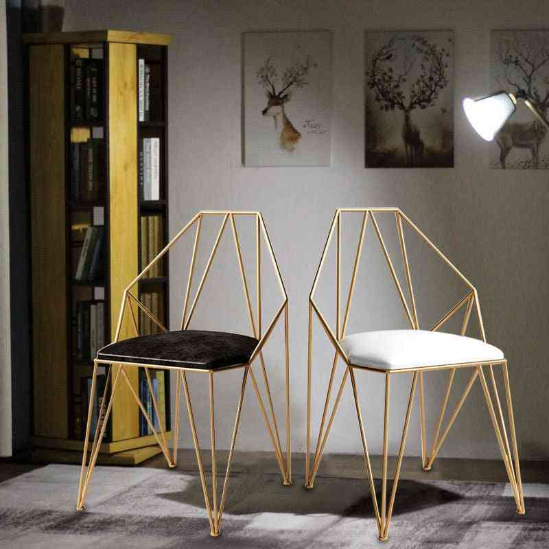 Nordic Backrest Gold Dining Chair