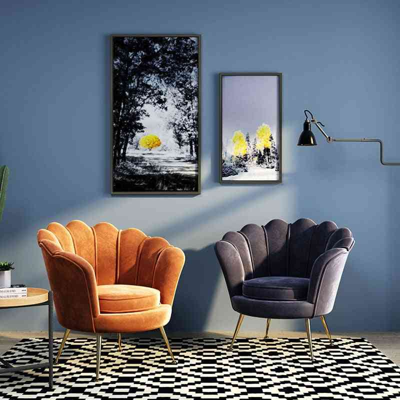 Nordic Luxury Living Room Chairs Single Sofa