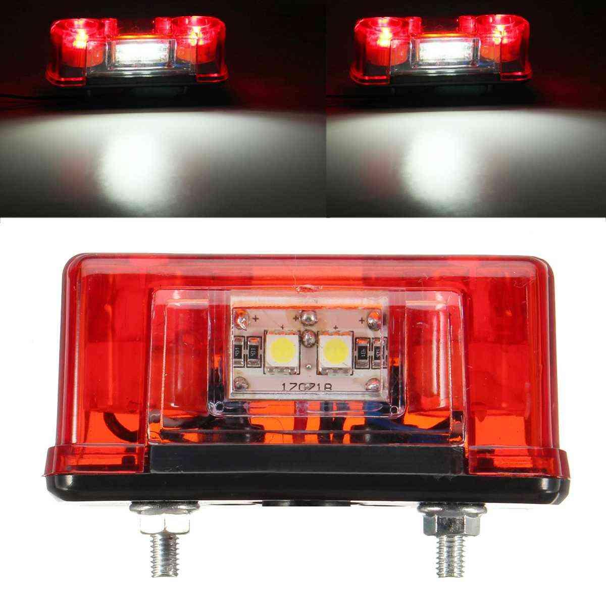 12v-24v Led License Number Plate, Tail Light Lamp