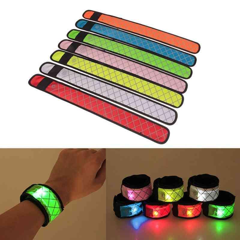 Nylon Led Sports Slap, Luminous Toy, Wrist Band, Wristband, Light Flash Bracelet, Glowing Armband For, Kids