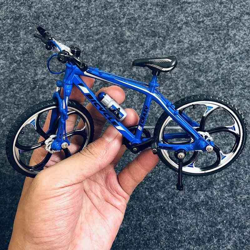 Mini Alloy Bicycle, Model Metal Racing Finger Mountain Bike, Pocket Portable Simulation Collection, For Children