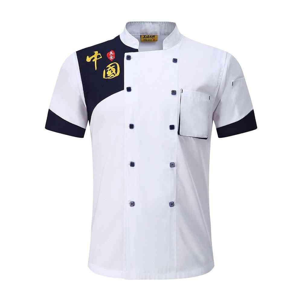 Unisex Chef Jacket / Apron Kitchen Food Service Breathable Double Breasted Uniform
