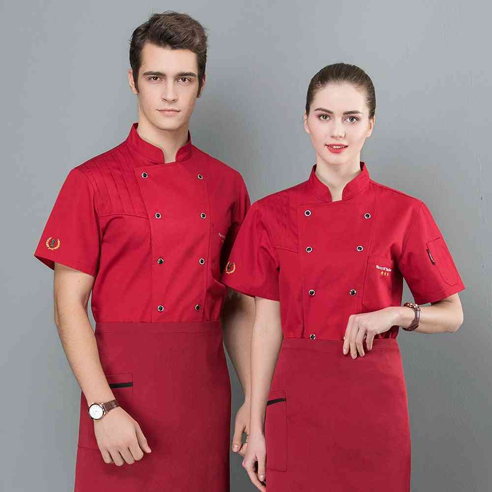 Short Sleeves Breathable Mesh Chef Food Service T-shirt Aprons