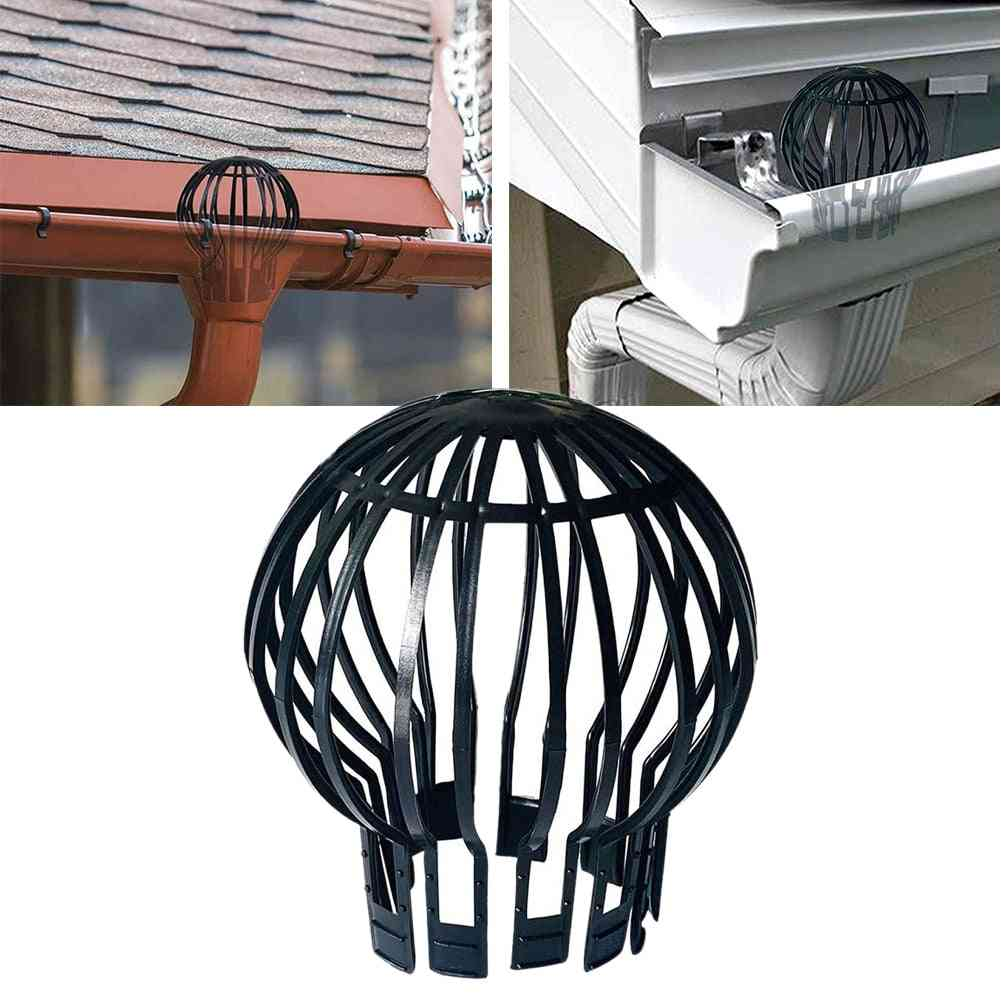 Anti-blocking Garden Strainer Outdoor Debris Filter Leaves Protection Downpipe Pp Gutter Guard Easy Install Roof Drain