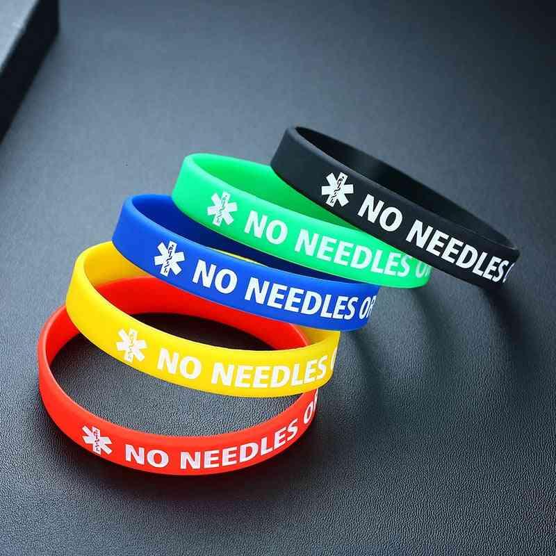 Medical Alert Silicone Bracelet Wristband
