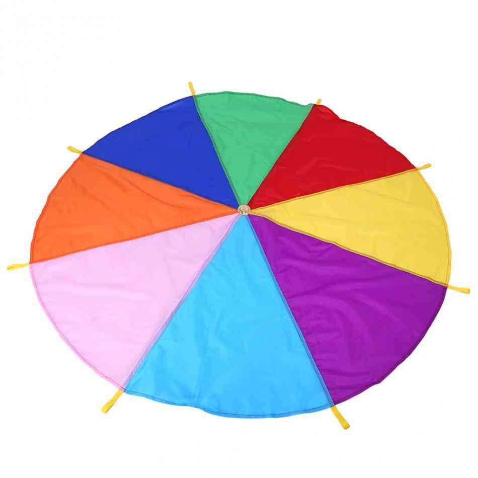 Kids Play Rainbow Parachute, Oxford Fabric Outdoor Game Toy, Exercise Development, Kindergarten