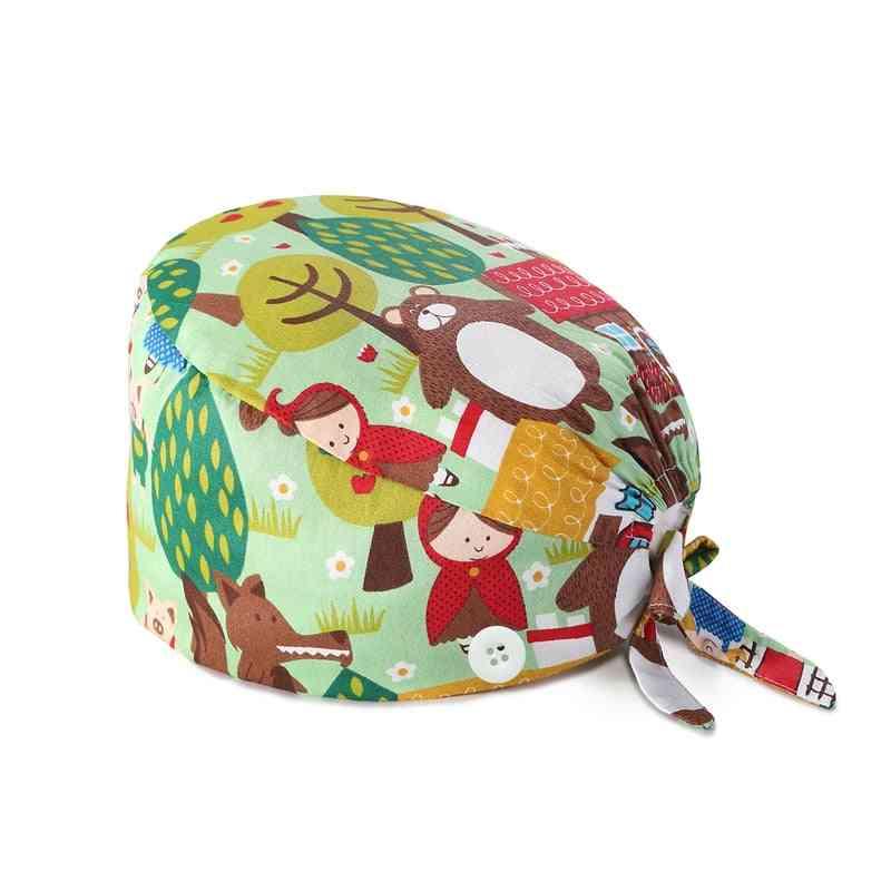 Women Bandage Adjustable Sweatband Bouffant Surgery Hat
