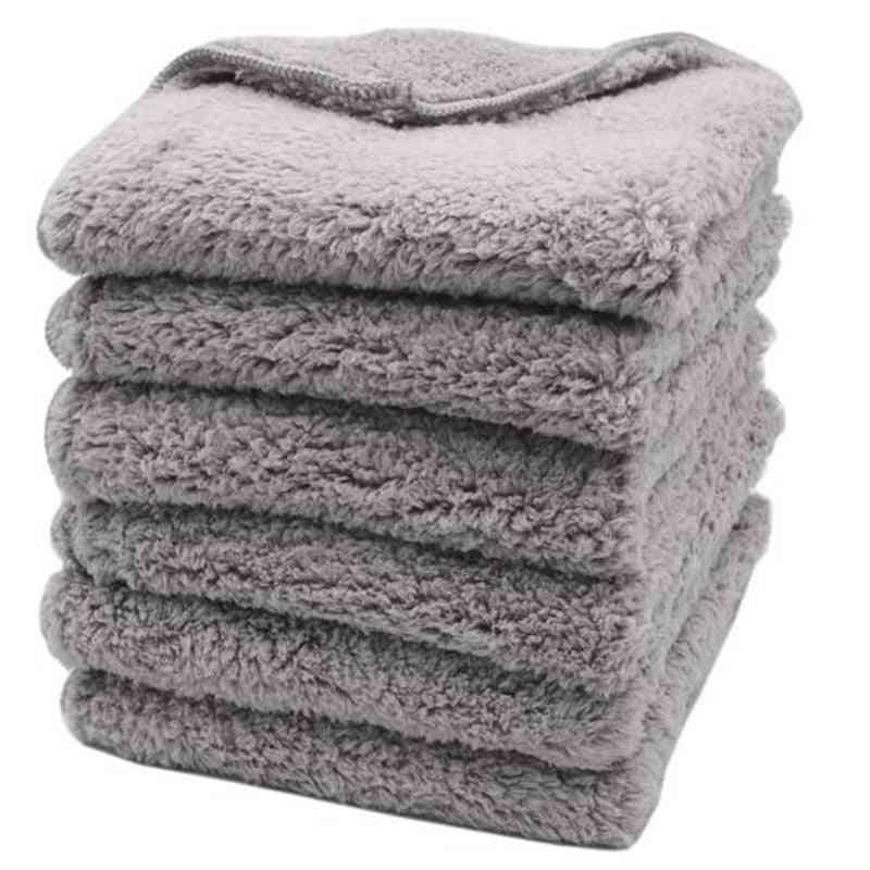 Super Thick Plush Edgeless Microfiber Towels Car
