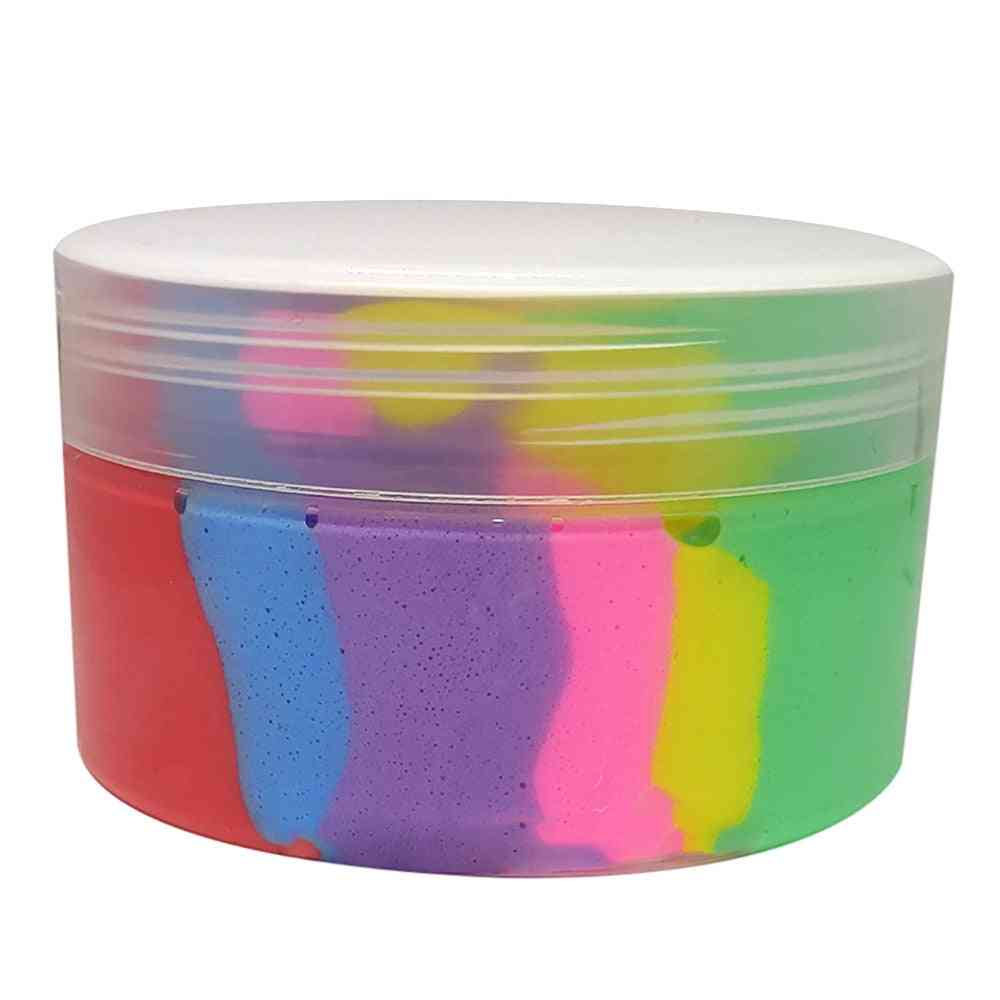 Beautiful Mixing Fluffy Floam Slime, Scented Stress Relief, Kids Sludge Toy.