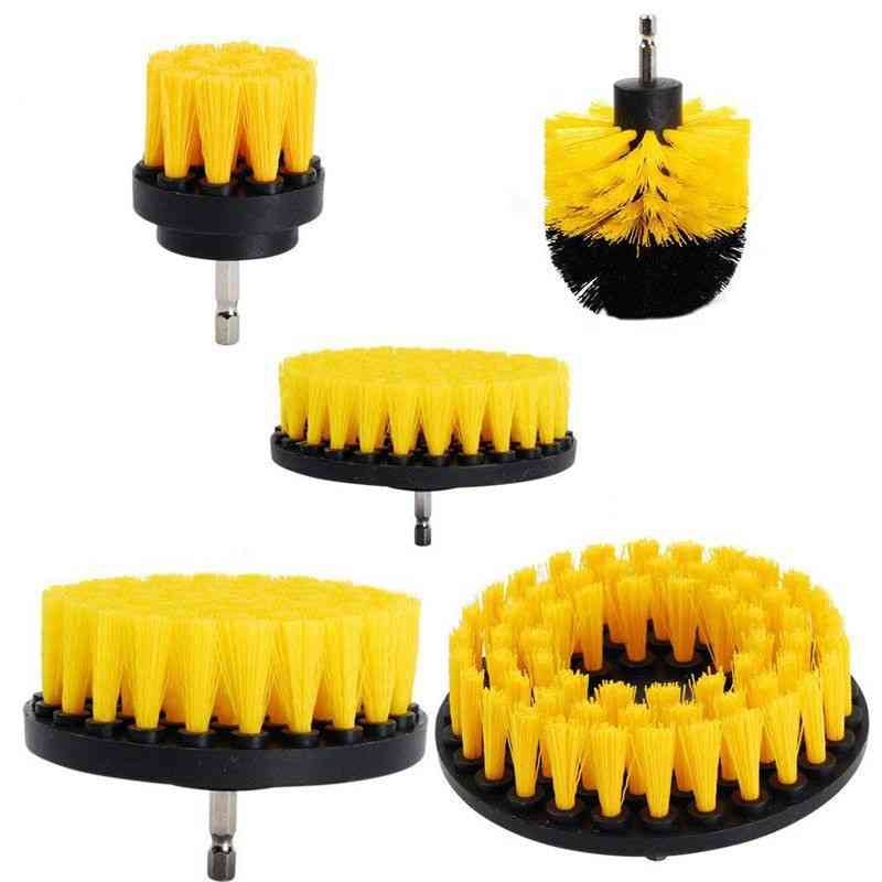 Electric Scrubber, Drill Brush Kit- Plastic Round, Cleaning Brush Tool
