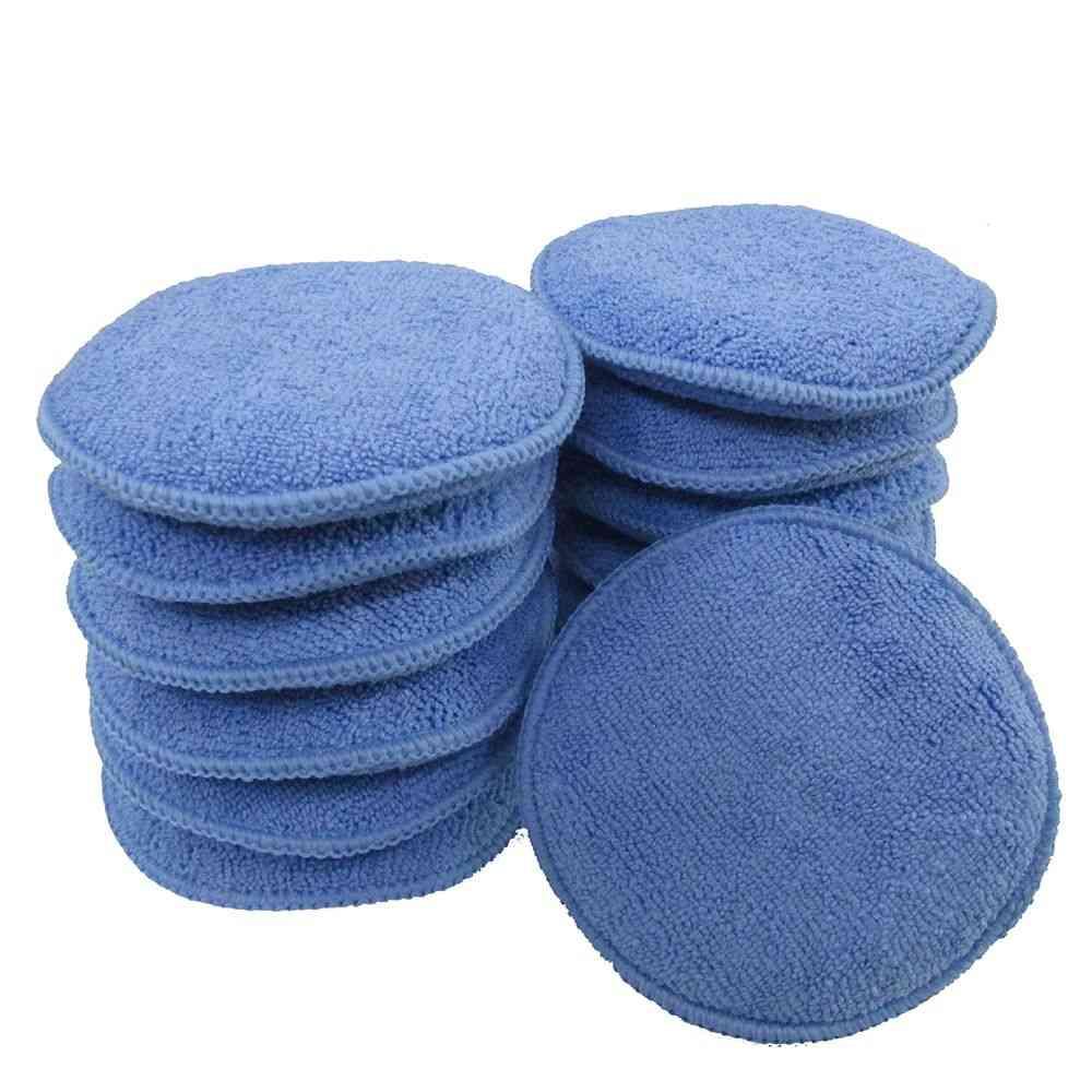 5pcs- Car Cleaning, Buffer Soft Foam, Wax Sponge, Polishing Pad Accessories