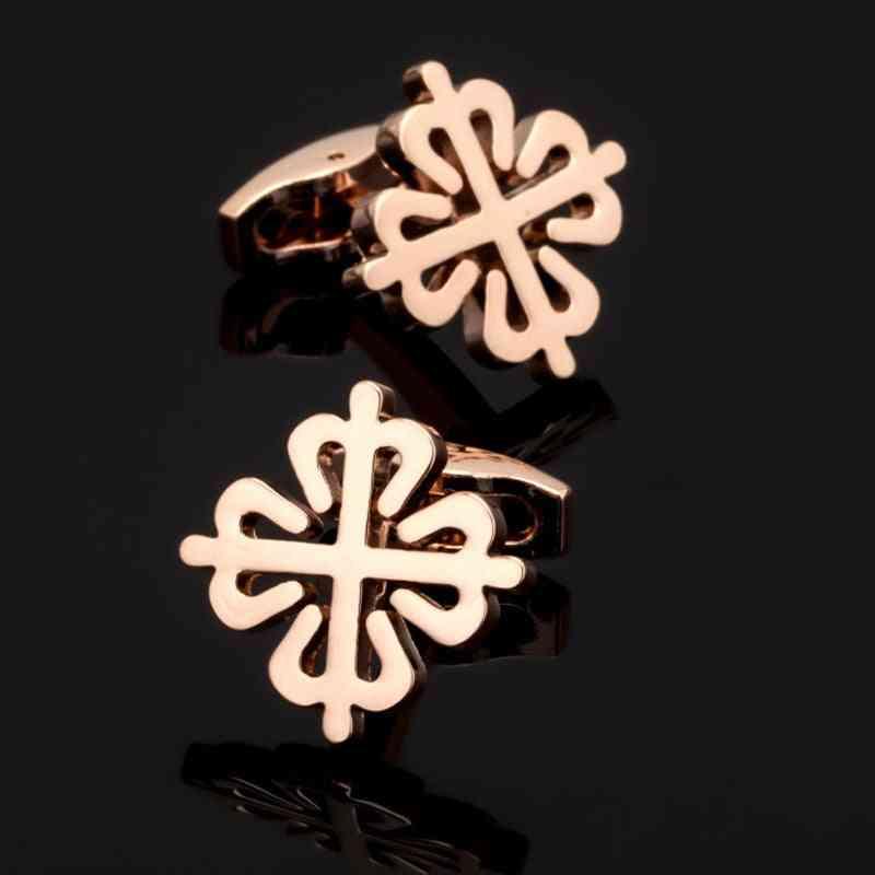 High Quality Rose Gold China Knot Cufflinks