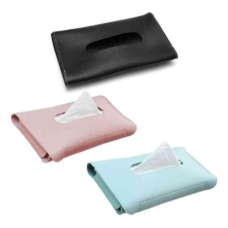 Car Tissue Towel Sets- Sun Visor, Pu Leather, Tissue Box Holder