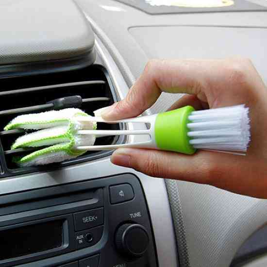 Car Air Conditioner- Vent Grille Cleaner, Blinds Duster Brush Accessories