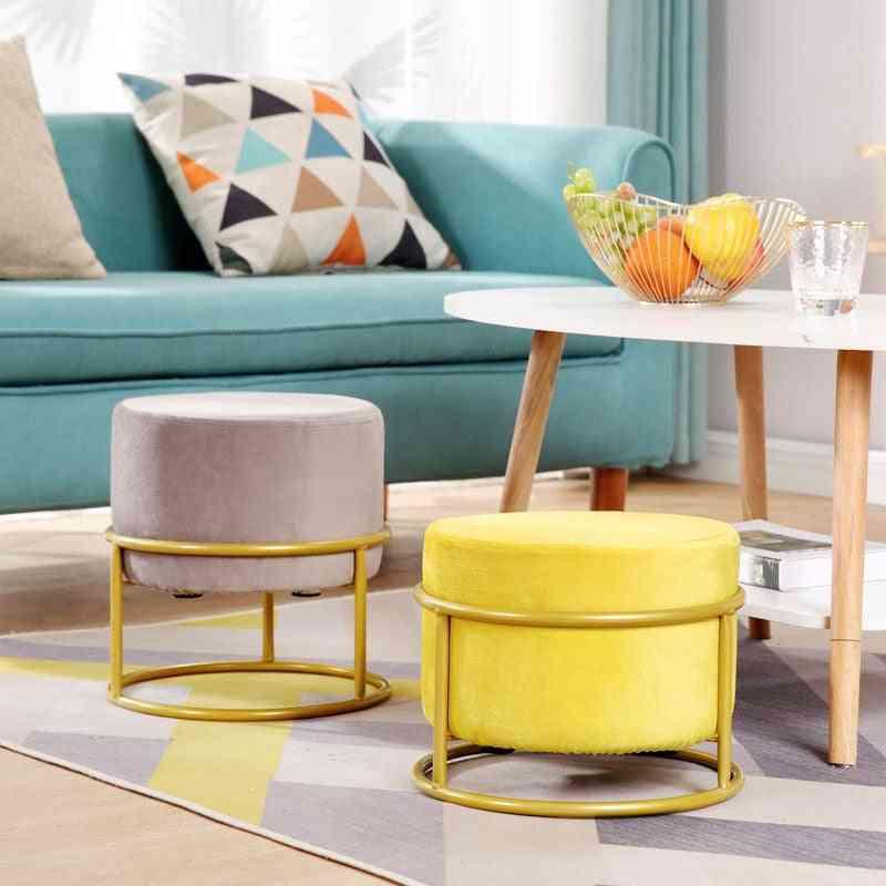 Height Adjustable ! Nordic Luxury Living Room Stool / Flannel Chair
