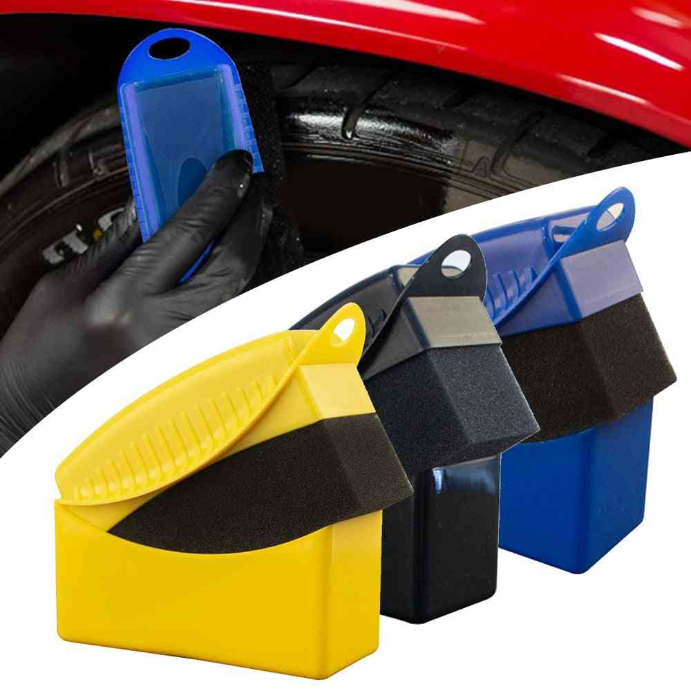 1pcs- Car Tire Wheel Waxing, Polishing Cleaning, Sponge Brush