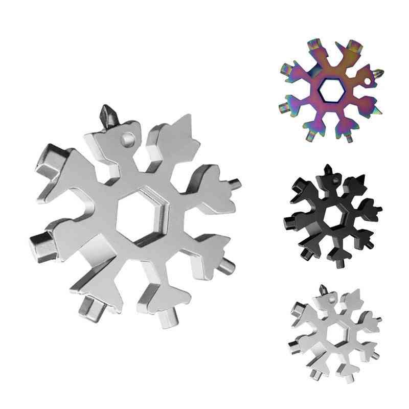 Multifunctional Snowflake Wrench Octagonal Shape Multi Purpose Outdoor Portable Tool