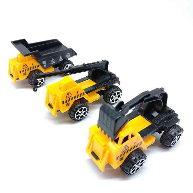 Children's Toy Crane, Toy Excavator, Toy Bulldozer, Engineering Vehicle Set, Small Toy