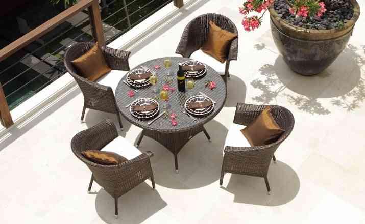 Aluminum Frame Pe Rattan Modern Restaurant Furniture