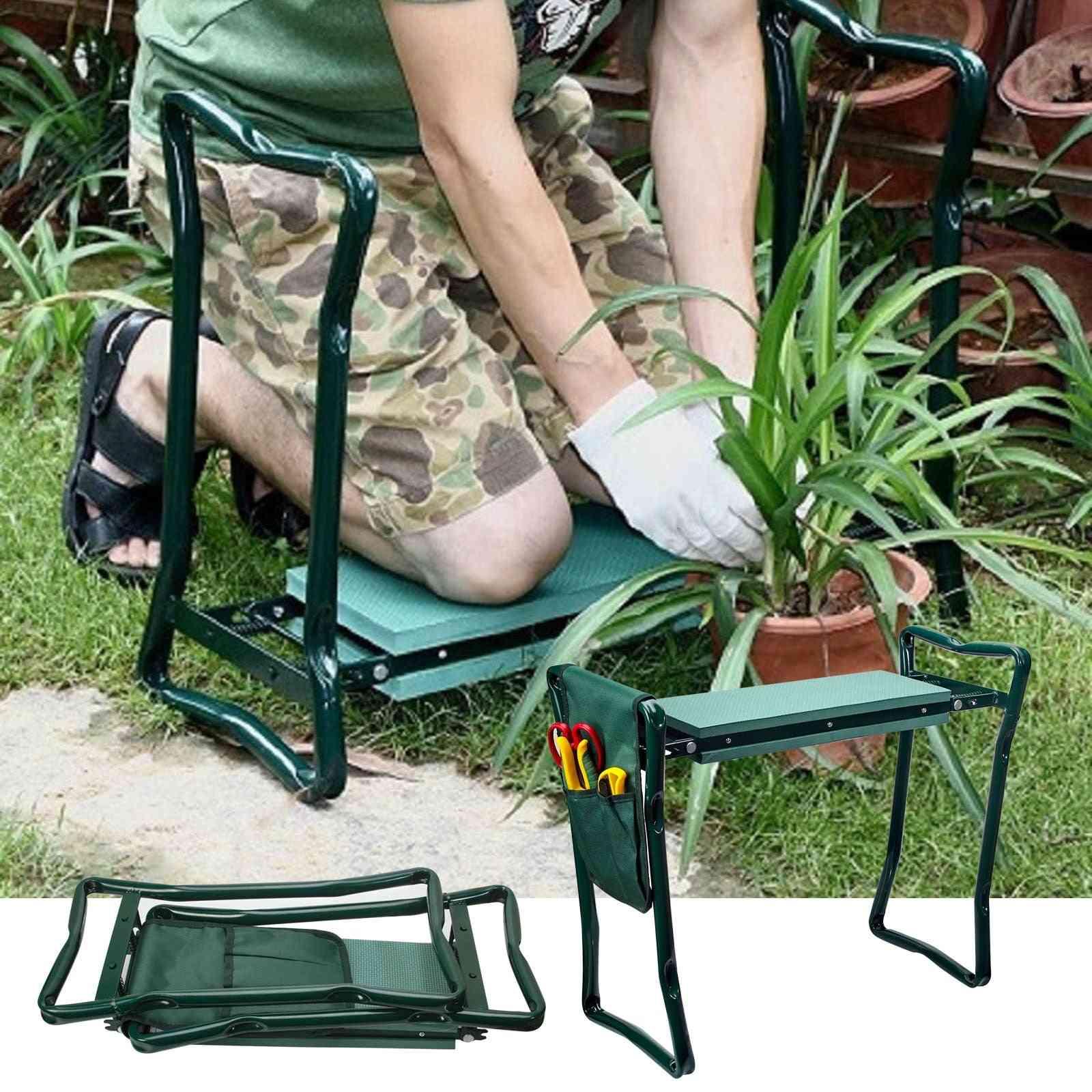 Folding Garden Chair Kneeler Seat Stainless Steel Garden Stool
