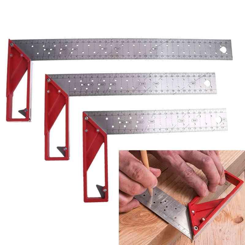 L Square Stainless Steel Marking Gauge Ruler