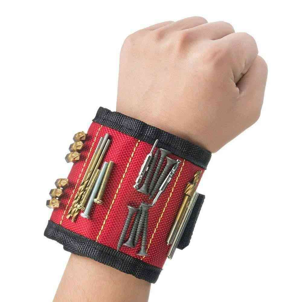 3 Rows Polyester Magnetic Wristband Portable Tool Bag
