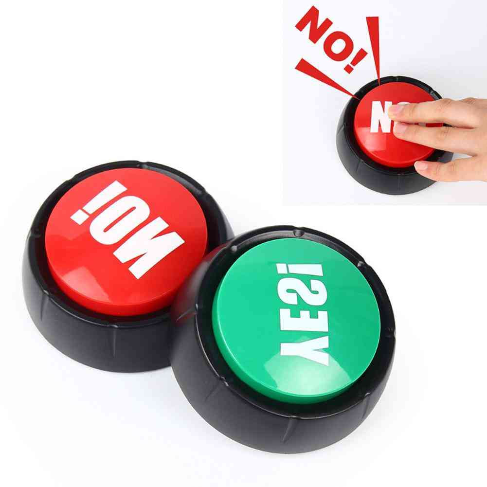 Electronic Talking Yes, No Sound Button Toy, Event Party Supplies, Brain Training, Knowledge Quiz Competition Supplie For Kids