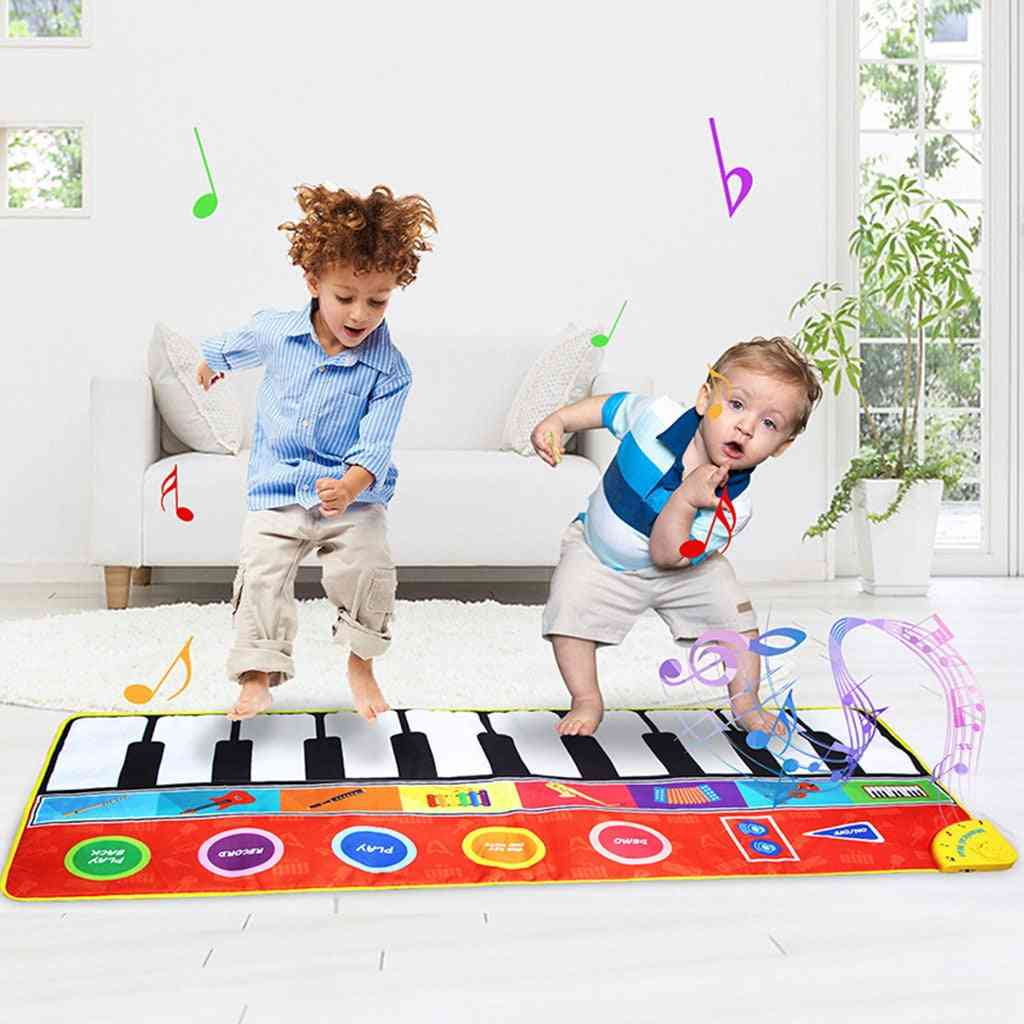 Children's Music Blanket Piano, Foot Step, Multi-function, Musical Instrument Large Game Toy, Carpet Crawling Mat, Birthday